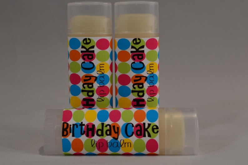 Birthday Cake Lip Balm Chapstick White