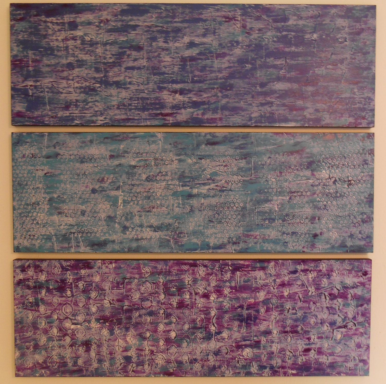 Wood Wall Sculpture - Large Abstract Paintings - Abstract Wall Art - Multi Panel Art - Teal Violet Purple Paintings - Large Wall Art  sc 1 st  Patty Evans Texture Paintings & Wood Wall Sculpture - Large Abstract Paintings - Abstract Wall Art ...