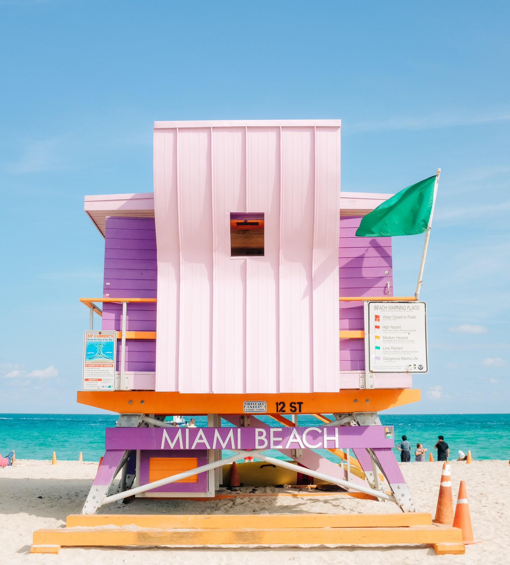 Lifeguard Station, Miami South Beach Photography, Florida Photography,  Ocean Drive, Large Wall Art, Wall Decor
