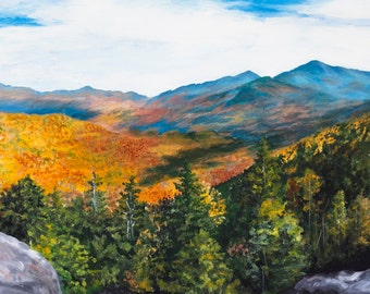 Adirondack mountains Autumn print FREE SHIPPING