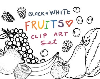Hand Drawn Fruit Clip Art hand drawn clipart commercial use