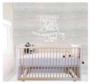 Twinkle Twinkle Little Star wall quote Kids Nursery Wall Decal Color and Size Choices  sc 1 st  Etsy & Twinkle wall decal | Etsy