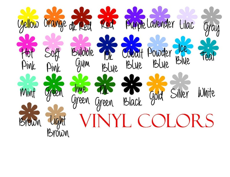 Personalized Matte Finish Name Wall Decal Many Sizes and Colors