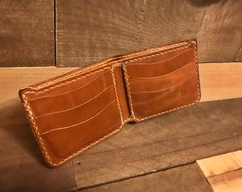 Leather Tan Large Bifold Wallet