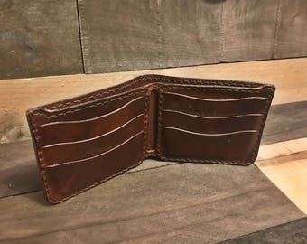 Leather Dark Brown Large Bifold Wallet