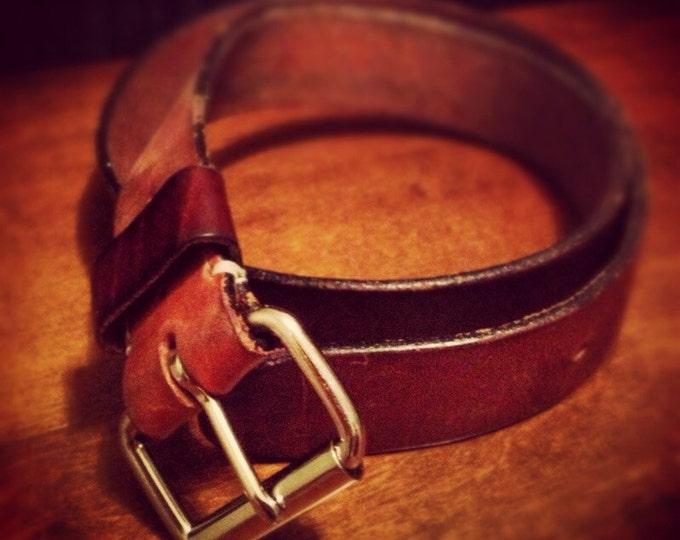 Handmade Custom Leather Belt