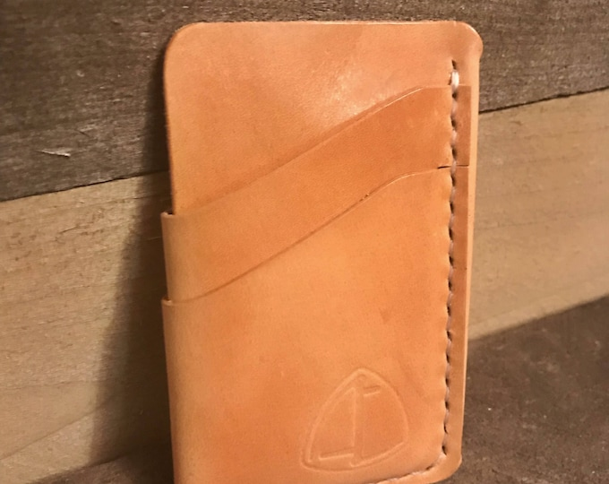 Natural Russet Handcrafted Leather Card Sleeve Wallet