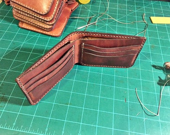 Custom Leather Bifold Wallet for Ruth