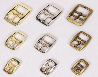 10mm Brass Plated Caveson Buckles x 2 for Collars Leather Etc Straps