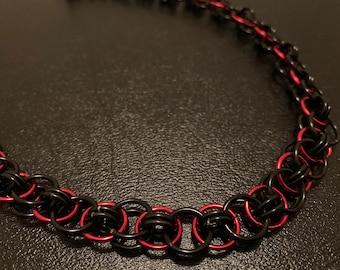 black 16 helm chain necklace Purple gold