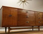 Mid Century Modern 9 Drawer Dresser By Suburbia Retro Atomic Furniture