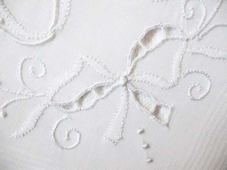 Vintage White Madeira Hanky R Initial Monogram Wedding Keepsake Gift Handkerchief Remembrance Heirloom Free Ship  US WhenRosesBloom
