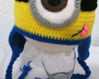 d4154283 Super Cool One Eyed Minion Knitted Hat (Despicable Me) All sizes!
