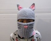 Super Cool Cat Hat and Cowl Set, Kitty hat