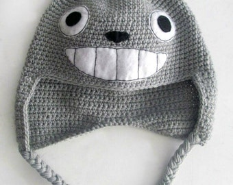 Super Cool Totoro Inspired Knitted Hat ee172b98408