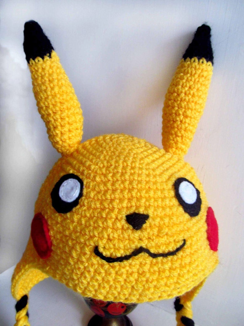 Super Cute Pikachu Inspired Knitted Hat Pokemon All sizes ...