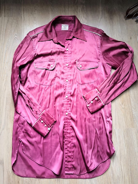Vintage 1950's Levi Straus Satin Red Western Rodeo
