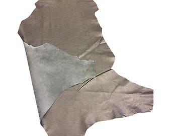9bdffe3abe43 SALE Silver Leather Hide