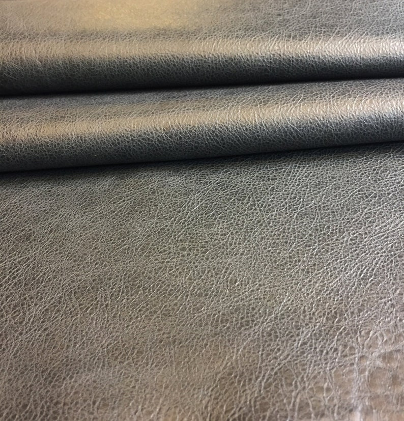 Quality Genuine Leather Hide 7 sq ft avg Thickness Grey Color 2 oz Upholstery Supply Thin Craft DIY Fabric Spanish Full Skin Real Lambskin Material Snakeskin Embossed Finish