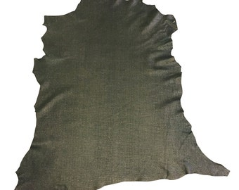 Green Leather Hides, Genuine Lambskin, Tanned Garment Leather, Textured Finished Skin, Thin DIY Material, Soft Sheepskin, Craft Supply FS907