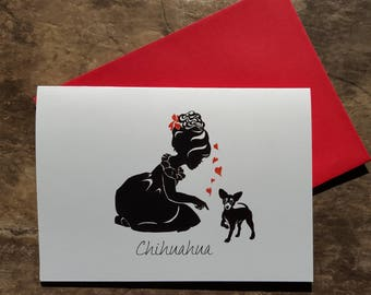 Chihuahua Note Cards, Dog Greeting Cards,  Mexican Chihuahua Dog, Blank Note Cards,  Chihuahua Greeting Cards,  Chihuahua Gift Card,