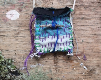 Equinox Talisman - Slow crafted, hand stitched, ritual, pouch, amulet bag