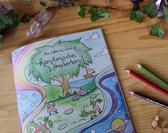 Colour In Book - Handmade Wonderland Faerie Sarah illustration