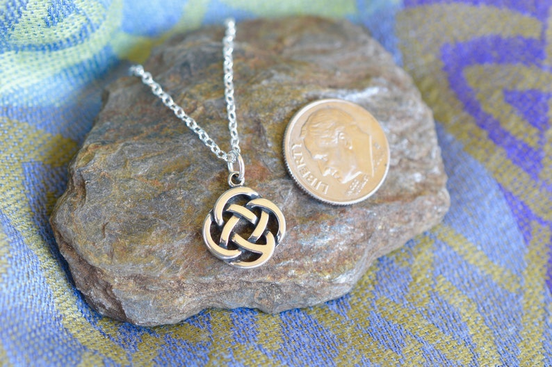 Sterling Silver Celtic Knot Necklace One Necklace