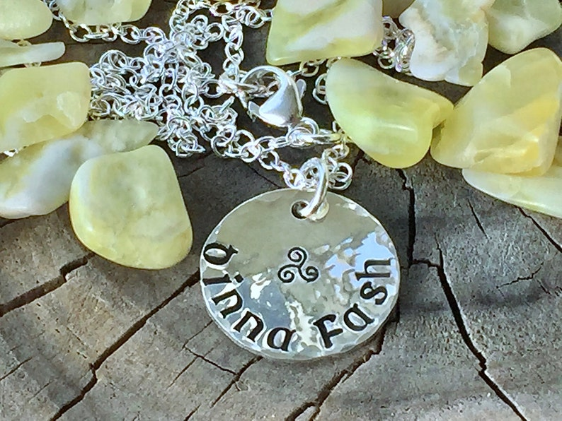 Dinna Fash Don/'t Worry Yourself Pendant Necklace