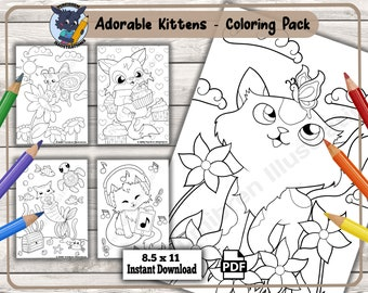 Cute Coloring Pages Etsy