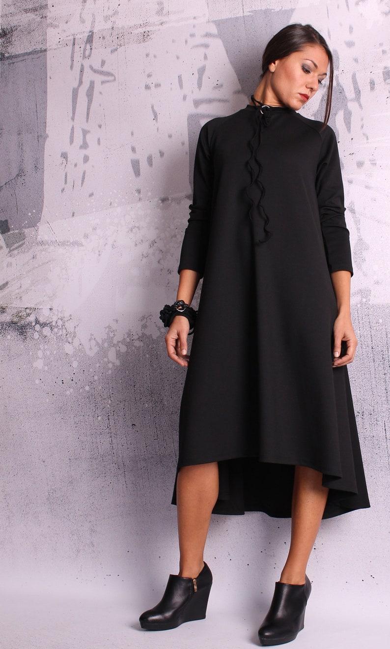 A line dress loose tunic maternity dress tunic dress long image 0