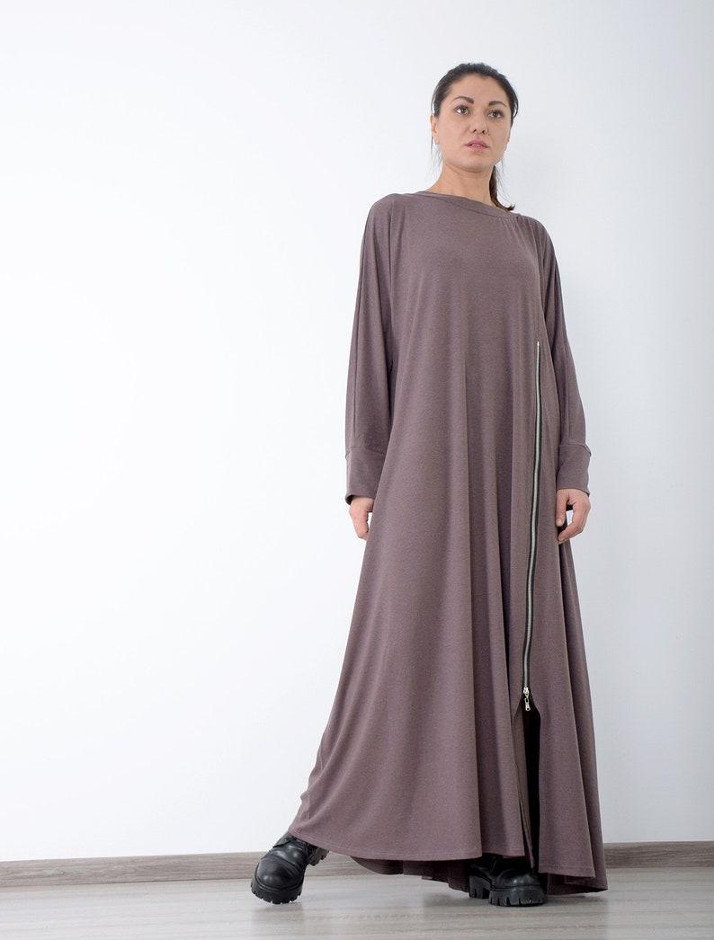 Long dress Long sleeved dress Maxi dress Made to measure image 0