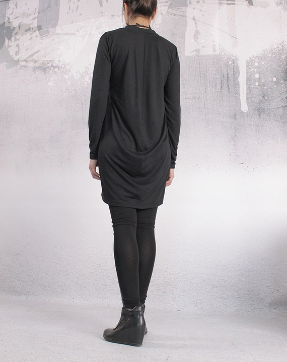 size Loose PENI Plus top Oversize tunic loose top Long tunic dress CO Black sleeves UrbanMood top Long tunic Tunic Asymmetric FL top rw4qrxBR