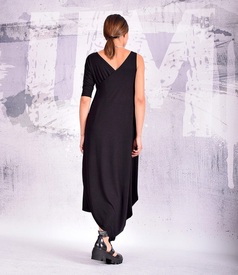 Black Dress Loose Dress Maxi Dress Long Dress Baggy dress image 0