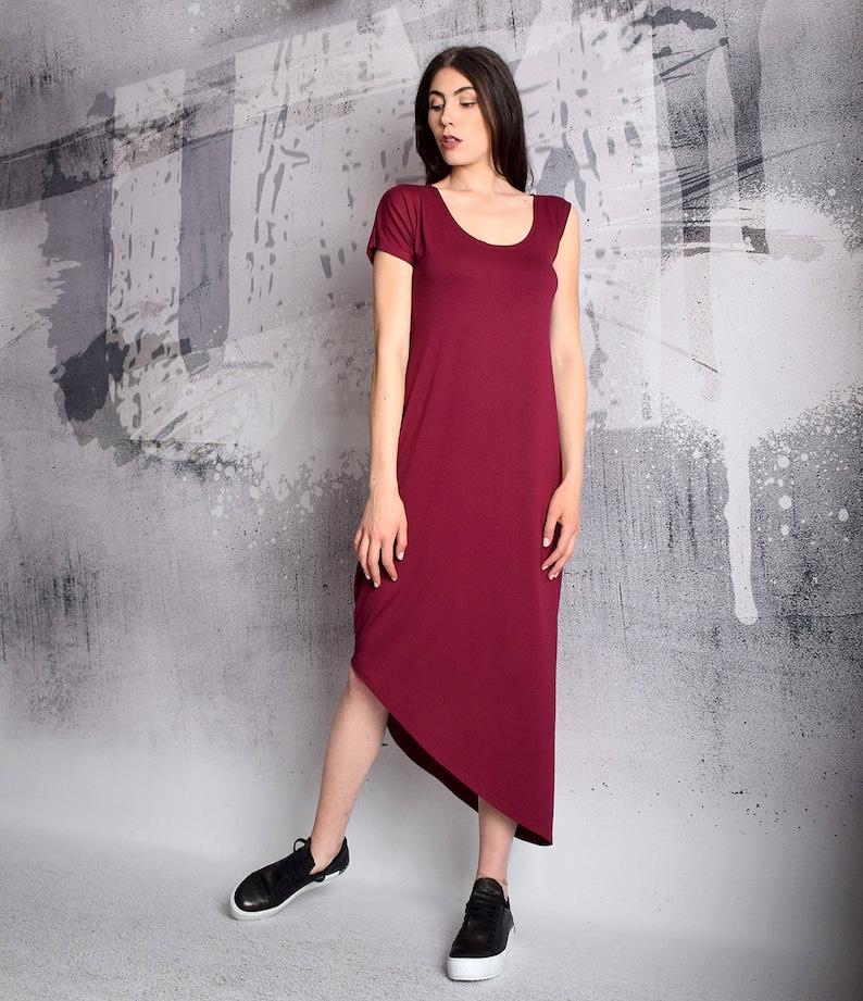 13432209da73 Long Dress Plus size dress Raspberry dress asymmetric