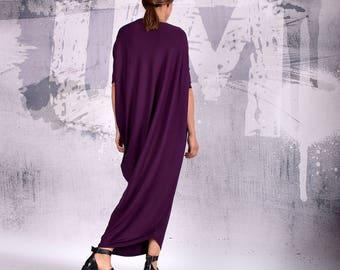 Purple Maxi Dress,Women Dress, Party dress, Asymmetric dress, Cocktail dress, Casual Dress, Loose Dress, Evening Dress, UrbanMood UM-192-VL