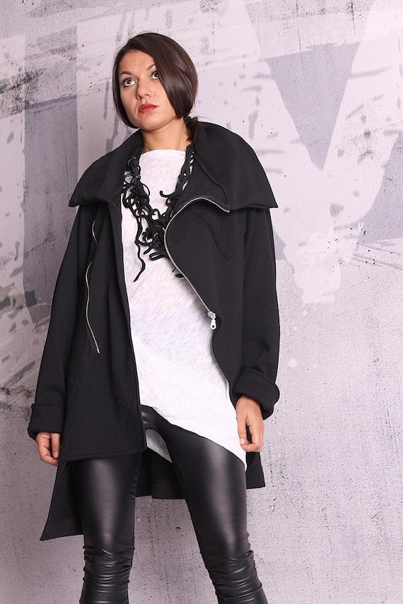 Extravagant quilted coat woman blazer hoodie coat 050 quilted UM black black QC cotton black cotton jacket coat sweatshirt black coat 86w8rax