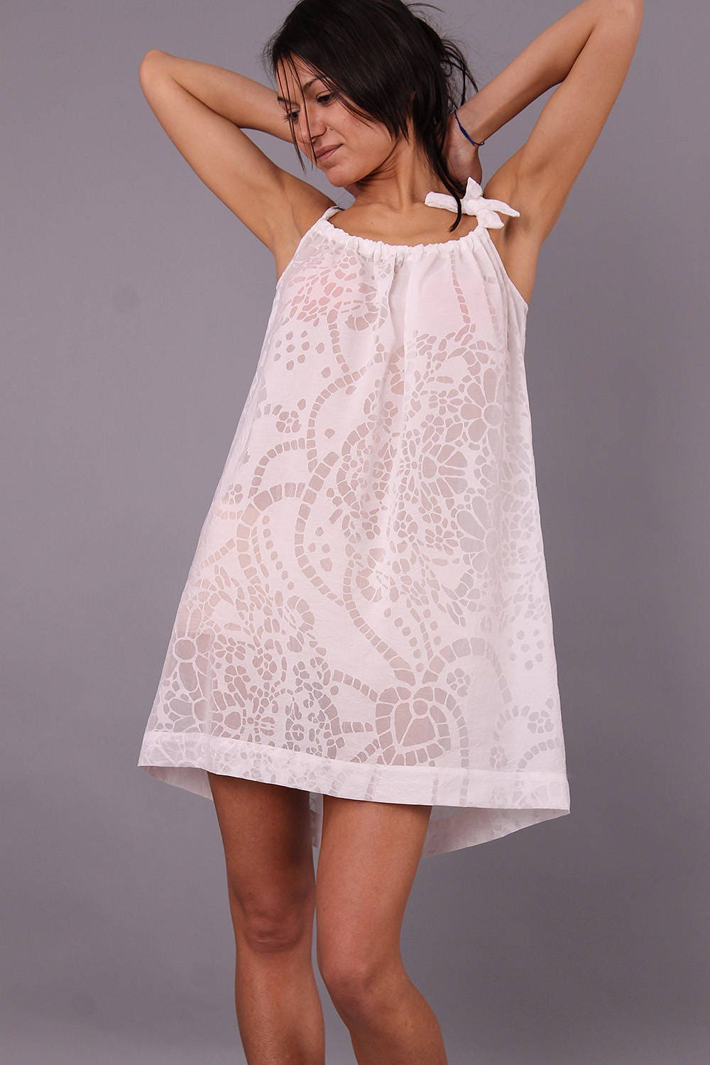 a255e46426 White Nightdress Night gown bed gown sleepwear lounge