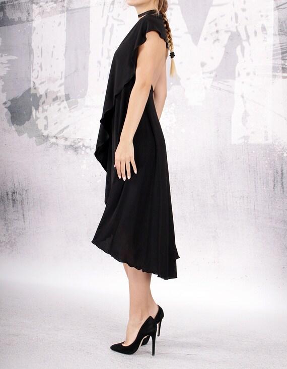 Dress Dress Dress Dress by Midi A Dress Cocktail Bare UM Black Dress Party line M UrbanMood Sleeveless 062 Shoulder Dress 6t8cvwq