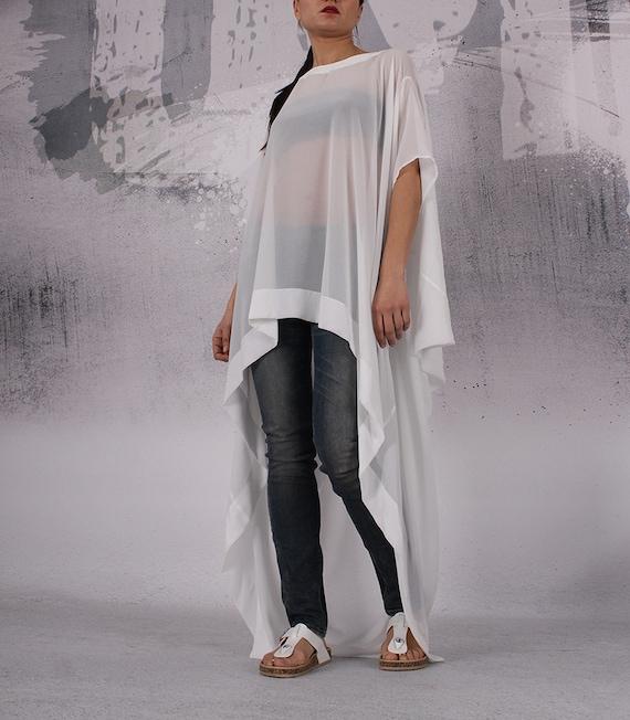 CH plus loose KIRA2 top FP long Ivory top extravagant size tunic Tunic maxi loose asymmetrical tunic oversized SqBaxUY