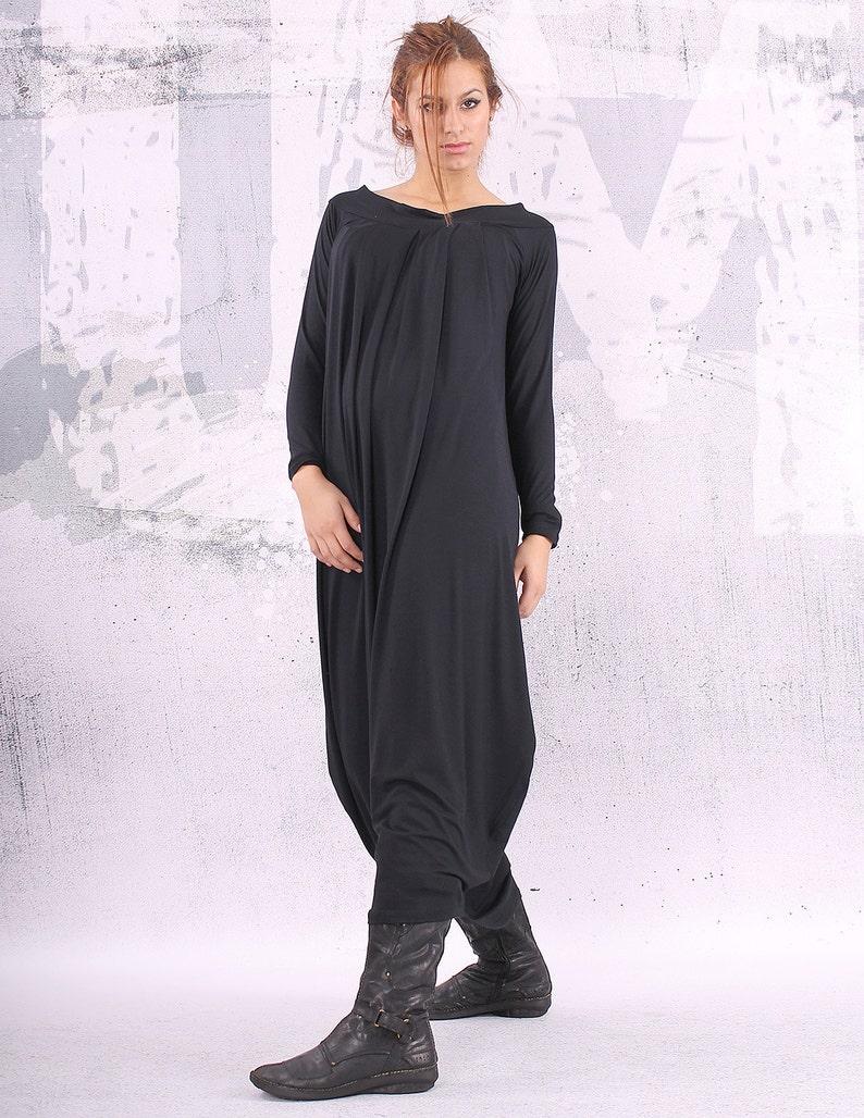 6b4d3379039473 Plus size jurk zwarte jurk   los maxi jurk oversized jurk