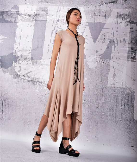 53c525b8bd3 Midi Dress Maternity dress Over sized dress Wide beige