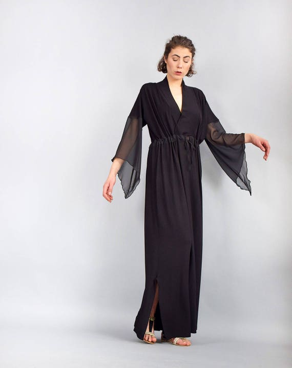 502939dc5351 Woman dress Black maxi dress Kaftan dress Caftan Loose
