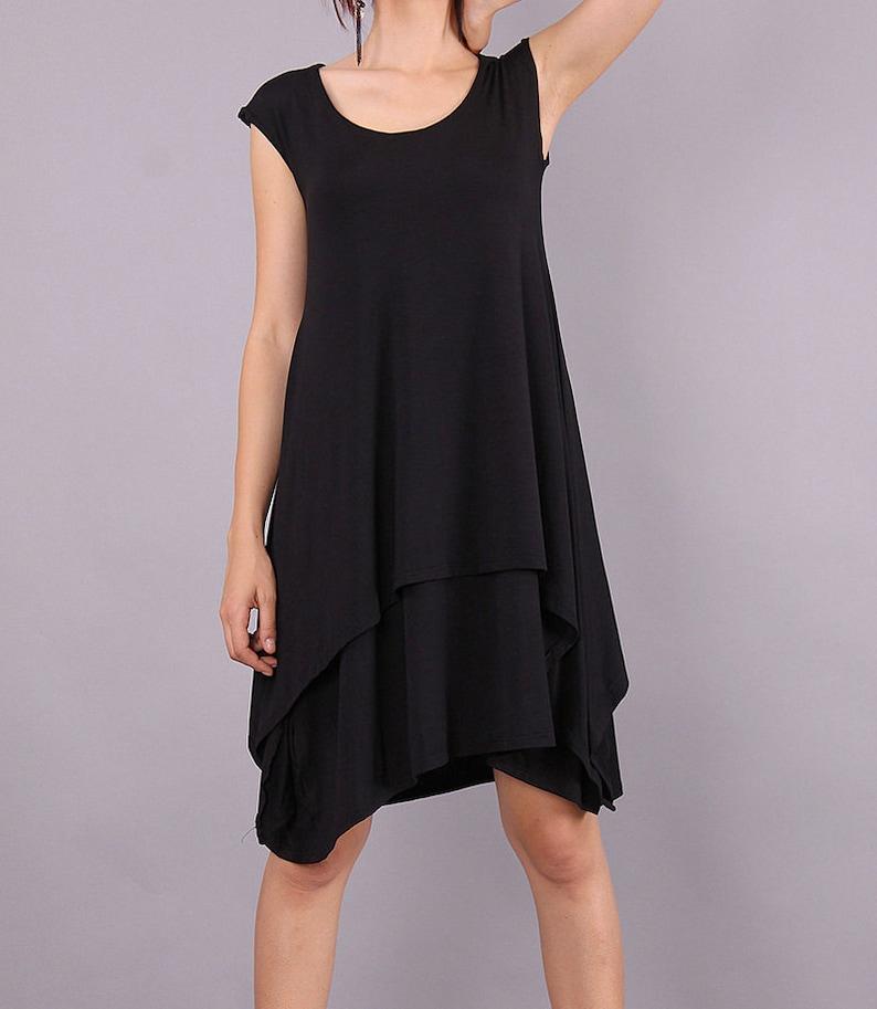 Midi Dress Maternity over sized dress Wide black dress image 0