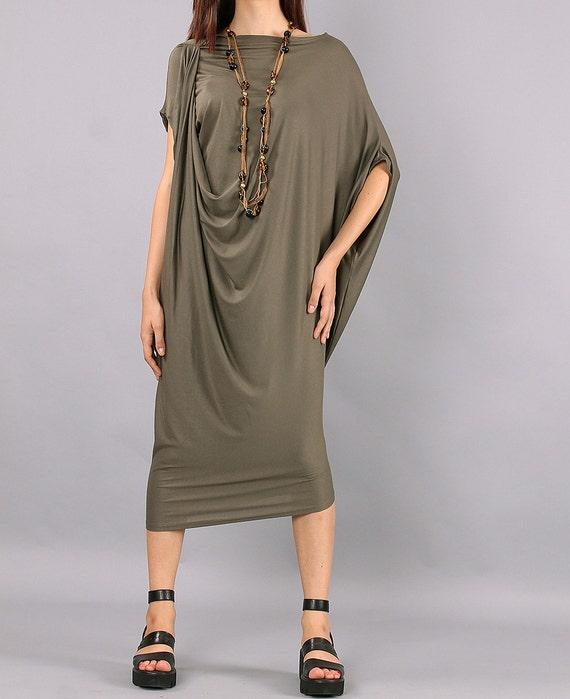 Midi NAYA Asymmetric dress CO Long Draped dress UrbanMood handmade dress dress dress dress VL Dress Maxi Comfortable party elegant T8pgwq