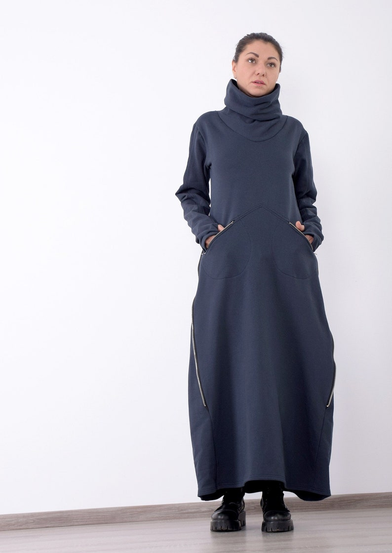 Sweatshirt Dress Thick dress Winter Dress Warm Dress Dress image 0