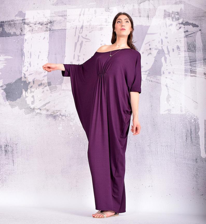 070a1e0c4332 Dress Purple maxi dress kaftan dress long dress loose