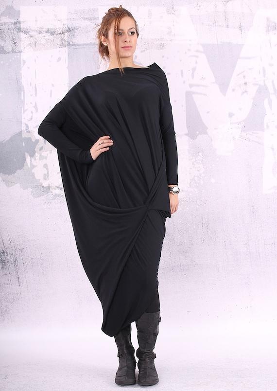 Black Dress Black Maxi Dress Loose Maxi Dress Plus Size Etsy
