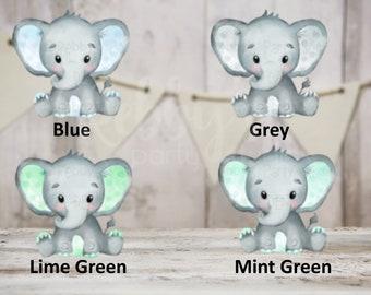 12 Baby Boy Elephant Cut Outs