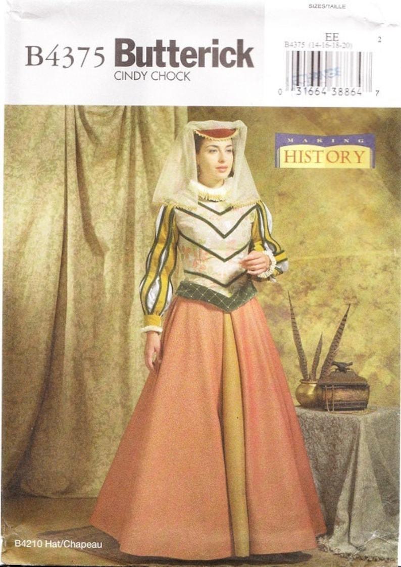 Renaissance Top Underskirt Neck Ruff 6-12 Butterick Sewing Pattern 4375 Skirt